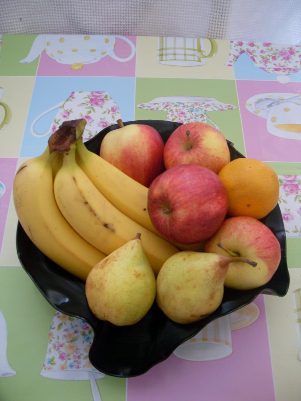 Retro Vinyl Fruit Bowl