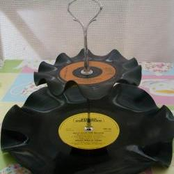 Revived Vinyl 2 Tier Cake Stand